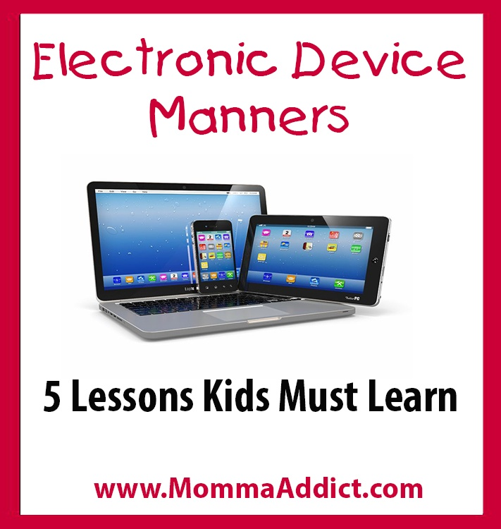 Dr Momma discusses the need to teach children to have good electronic device manners which enables parents to better interact with healthcare providers