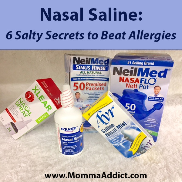 Dr. Momma discusses the value in using nasal saline (salt water) washes to improve allergy and chronic upper respiratory conditions.